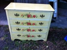 dresser hand painted $250