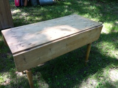 antique table pine $1,000
