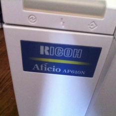 printer Ricoh Aficio AP610N laser printer