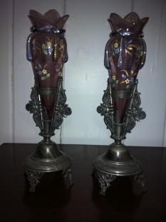 (2) Reed & Barton vintage vase $649