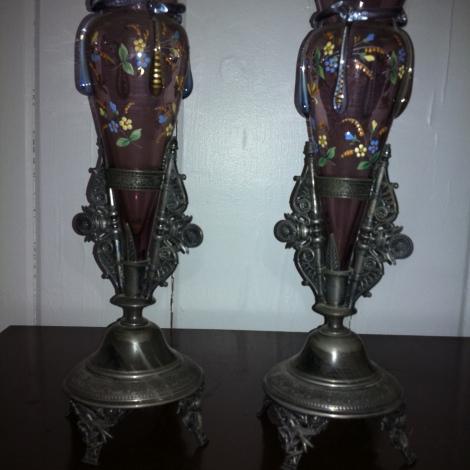 (2) Reed abnd Barton vintage vase $649