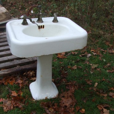 cast iron vintage sink $450