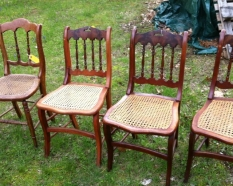 4 cane seat chairs $320 for all
