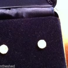 earrings replica they are not diamonds $100