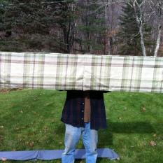 82.5l x 16 fabric drop 7.5 from wall $150