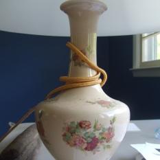 vintage ceramic lamp $75