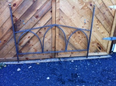 metal headboard and footboard 61.5 x 48 - Queen $900 footboard
