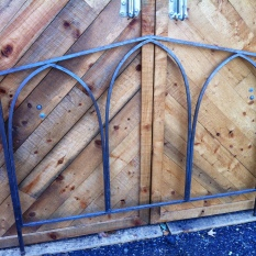 metal headboard and footboard 61.5 x 48 - Queen $900