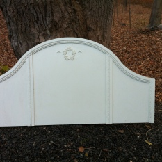 white Shabby 62 x 51.5 - Queen $250