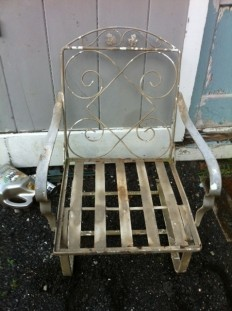 (2) chairs wrought iron vintage $800