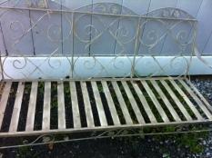 wrought iron sofa vintage $800