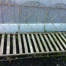 wrought iron sofa vintage $800