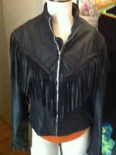 Womens Lamb Leather Fringe Mesh Jacket Coat adorable $349.99