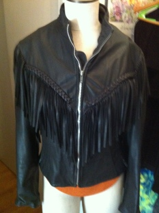 Womens Lamb Leather Fringe Mesh Jacket Coat adorable $349.99