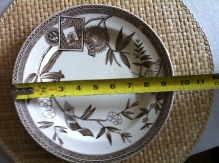 "WEDGEWOOD brown DINNER PLATEs 10"" , ""LOUISE"" AESTHETIC TRANSFERWARE England (5 available) $49"