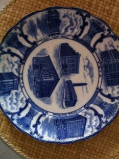 "Staffordshire plate 9"" YMCA $99"