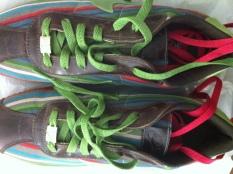 Shoes NIKE ID STUDIO WRAP multi striped SNEAKERs SIZE 9 $650