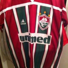 Unimed-Fluminense-Soccer-Jersey-FC-Brazil-Adidas-10-Size-medium $40