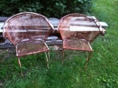 vintage chairs pair
