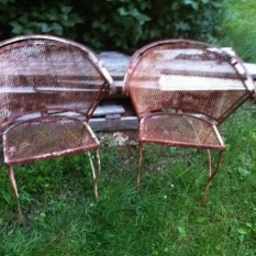 vintage chairs pair