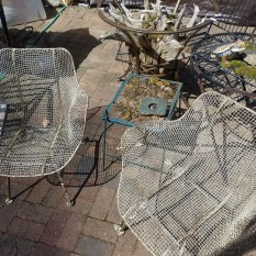 SOLD Pair-of-Vtg-Mid-Century-Modern-maybe-Russell-Woodard-Sculptura-Metal-Mesh-chairs Pair-of-Vtg-Mid-Century-Modern-maybe-Russell-Woodard-Sculptura-Metal-Mesh-chairs Pair-of-Vtg-Mid-Century-Modern-maybe-Russell-Woodard-Sculptura-Metal-Mesh-chairs Pair-of-Vtg-Mid-Century-Modern-maybe-Russell-Woodard-Sculptura-Metal-Mesh-chairs Have one to sell? Sell now Pair of Vtg Mid Century Modern maybe Russell Woodard Sculptura Metal Mesh chairs $950 for the pair
