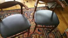 SOLD Teak chairs pair $1,200