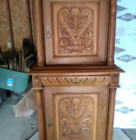 2 pieces storage cabinet $1,800